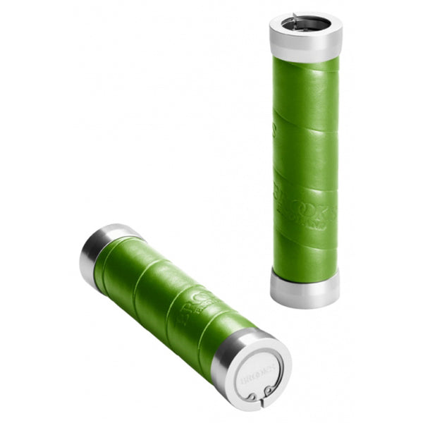 Brooks Slender Leather Grips - Apple Green - Retro Road