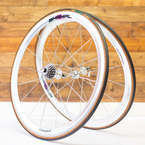 Campagnolo Shamal (Clincher) Silver Vintage Wheelset - Retro Road