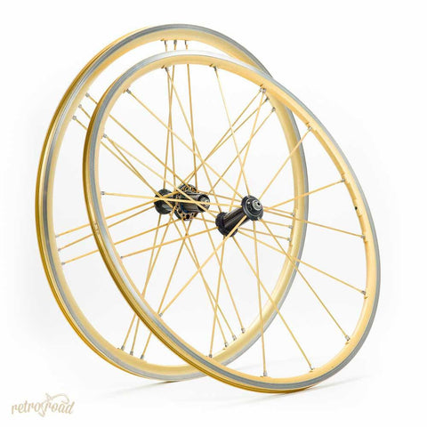 Campagnolo Shamal Ultra Gold Wheelset - Retro Road
