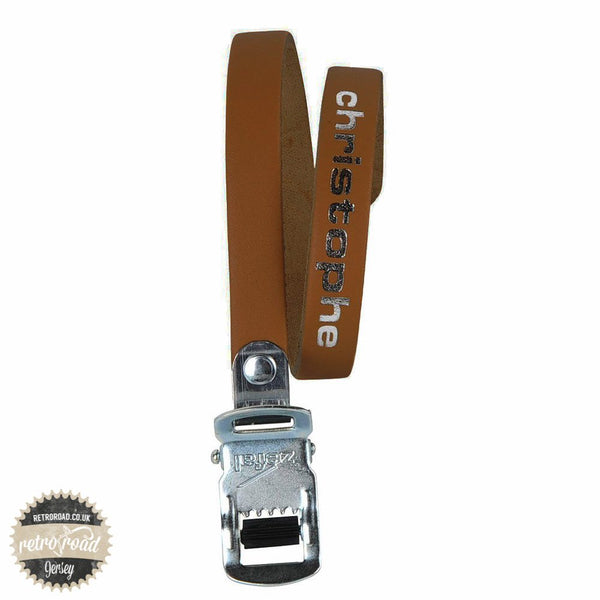 Christophe Leather Straps - Brown - Retro Road