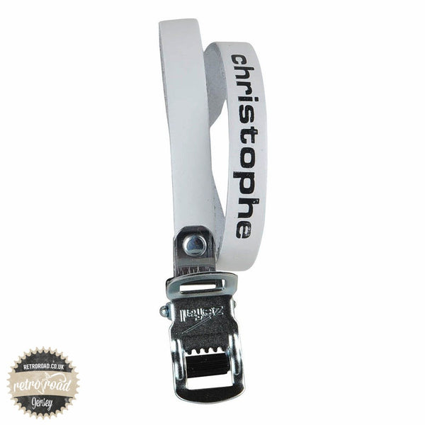 Christophe Leather Straps - White - Retro Road