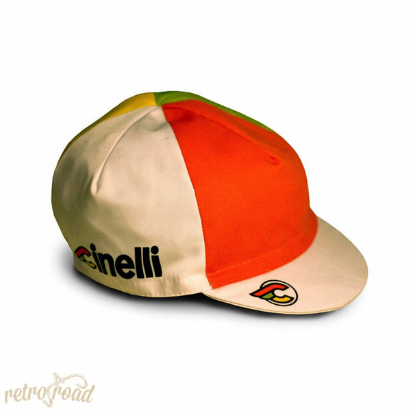 Cinelli Italo '79 Cotton Cap - White/Multicolour - Retro Road