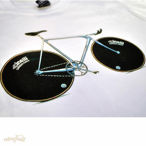 Cinelli Laser White T-Shirt - Retro Road