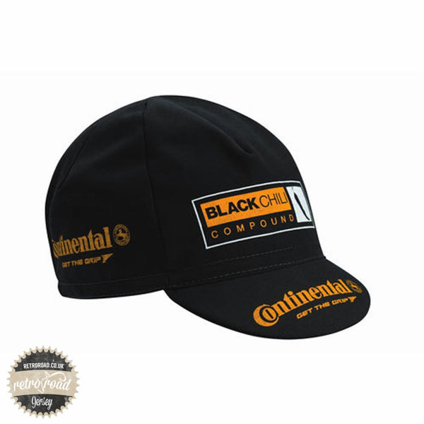 Continental Cotton Race Cap - Black - Retro Road