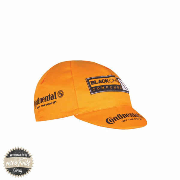Continental Cotton Race Cap - Yellow - Retro Road