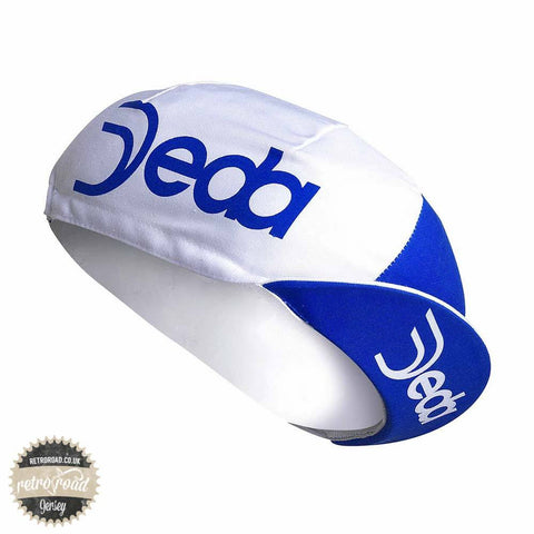 Deda Cotton Cap Blue/White - Retro Road