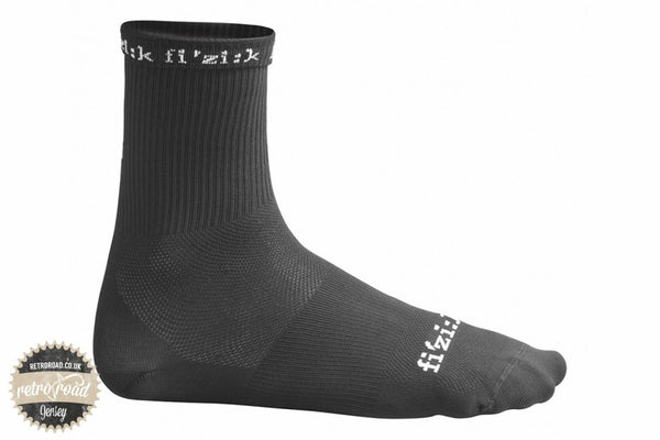 Fizik Summer Socks - Black - Retro Road  - 1