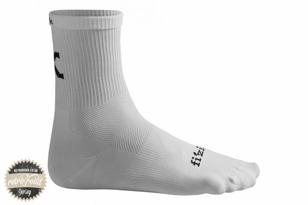 Fizik Summer Socks - White - Retro Road  - 1