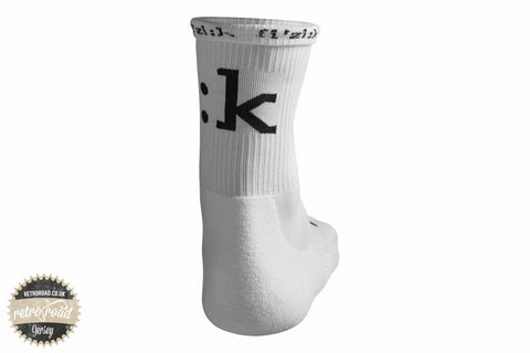 Fizik Winter Socks - White - Retro Road  - 2