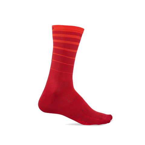 Giro Comp Racer High Rise Cycling Socks - Red Six String - Retro Road