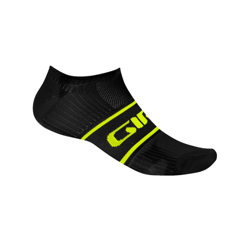 Giro Comp Racer Low Cycling Black/Hi-Viz Yellow Socks - Retro Road