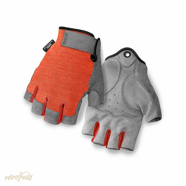 Giro Hoxton Road Cycling Mitts - Glowing Red - Retro Road
