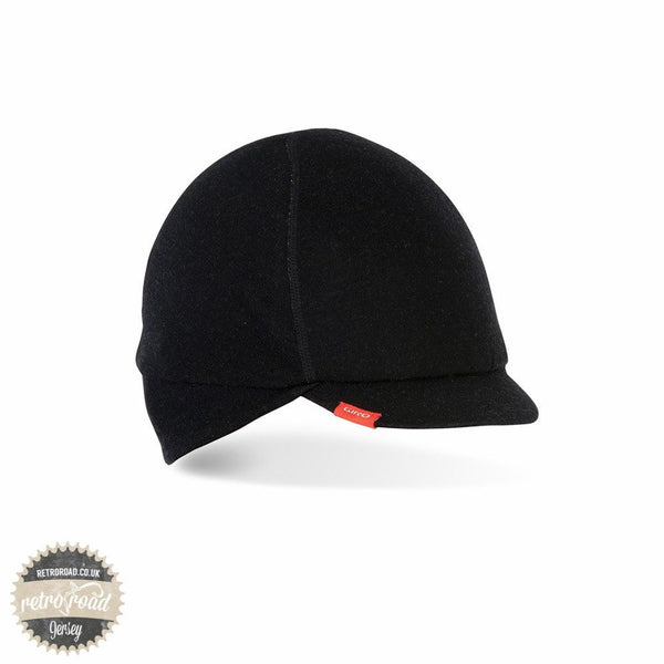 Giro Merino Wool Under Helmet Cycling Cap - Black - Retro Road