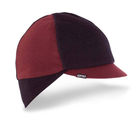 Giro Merino Wool Under Helmet Cycling Cap - Black/Red - Retro Road