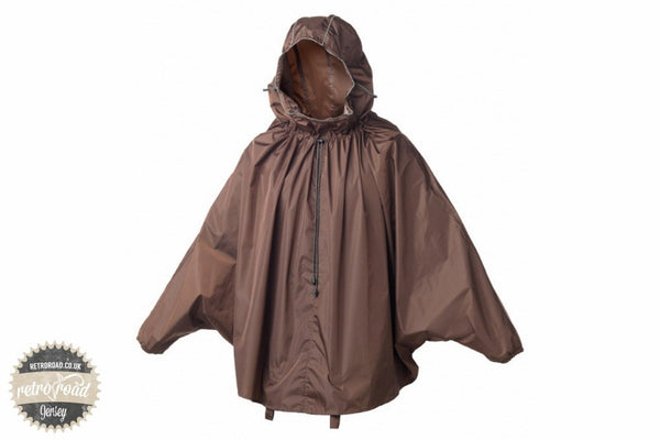 John Boultbee Cambridge Rain Cape - Brown - Retro Road