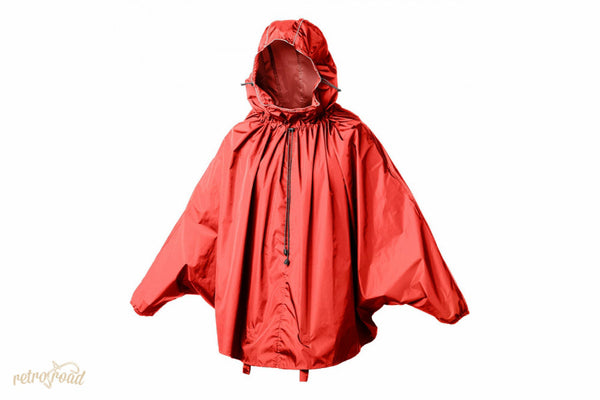 John Boultbee Cambridge Rain Cape - Red - Retro Road