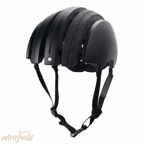 John Boultbee Special Carrera Folding Helmet - Black - Retro Road  - 2