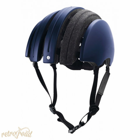 John Boultbee Special Carrera Folding Helmet - Blue - Retro Road  - 2