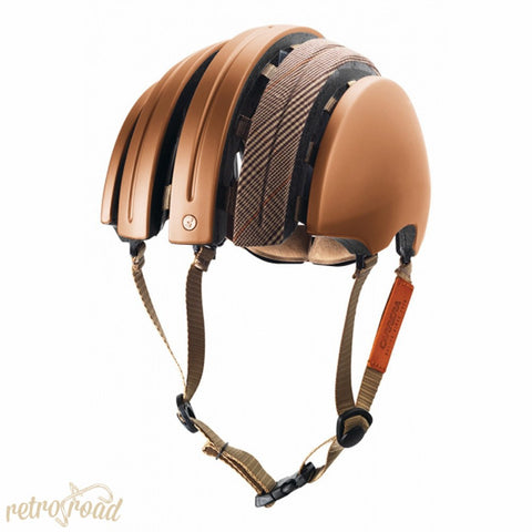 John Boultbee Special Carrera Folding Helmet - Copper - Retro Road  - 2