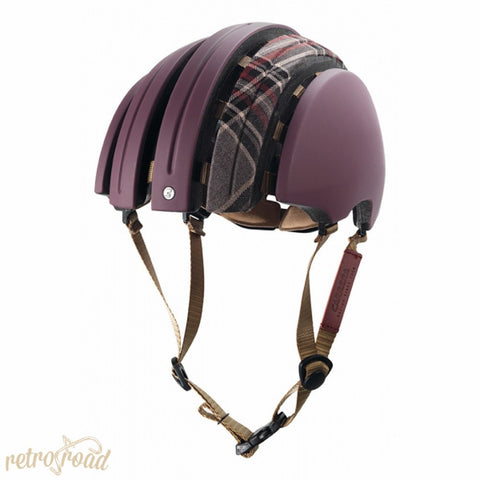 John Boultbee Special Carrera Folding Helmet - Grape - Retro Road  - 2