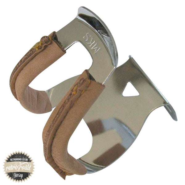 MKS Half Deep Section Toe Clips with Leather - Retro Road
