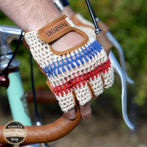 Crochet Back Cycling Mitts - Classic Cream - Retro Road  - 4