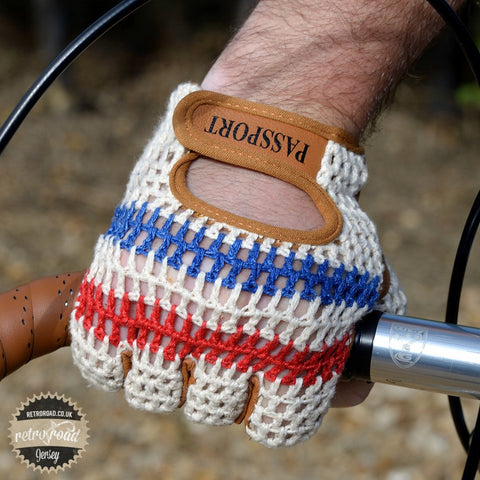 Crochet Back Cycling Mitts - Classic Cream - Retro Road  - 3