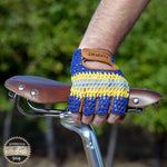 Crochet Back Cycling Mitts - The Light Blue - Retro Road