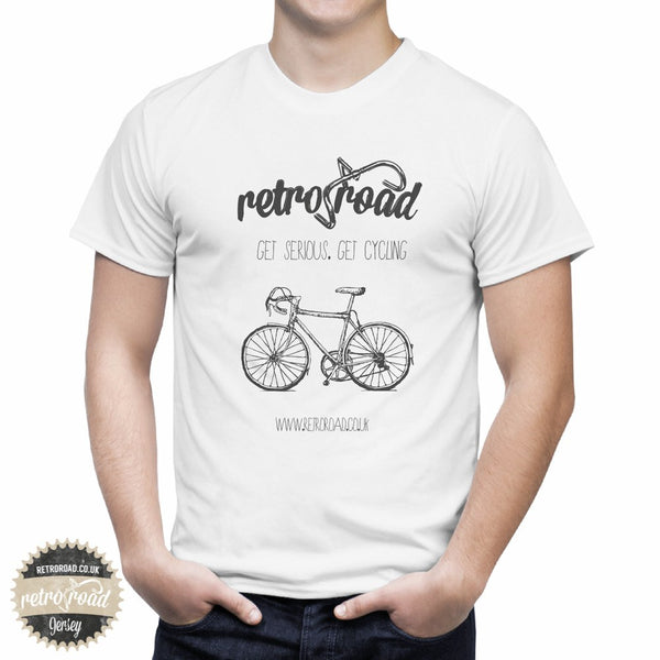 "Retro Road ""Get Serious. Get Cycling"" T-Shirt - Retro Road"