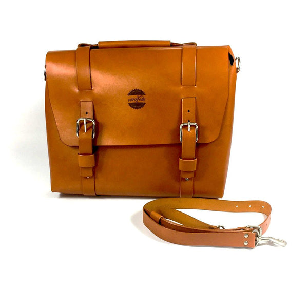 Retro Road Leather Gentelman Pannier - Retro Road