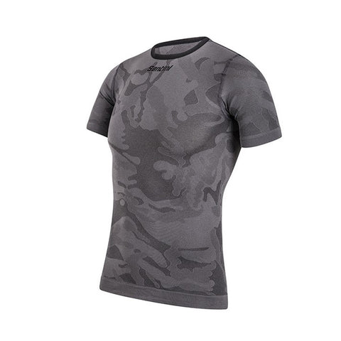 Santini Camo Tee Shirt Base Layer - Retro Road