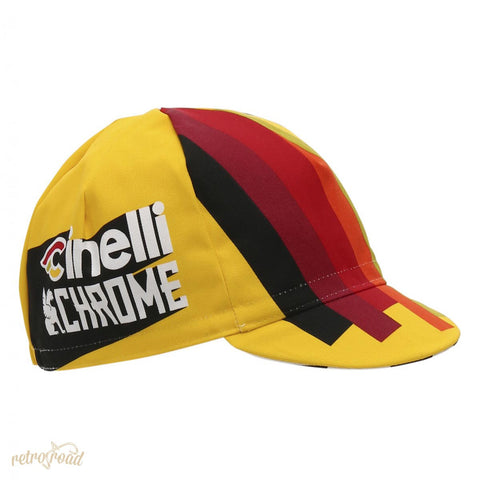 Santini Cinelli Chrome 17 Cotton Race Cap - Retro Road