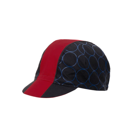 Santini Cotton Cycling Cap Redux Design - Red - Retro Road