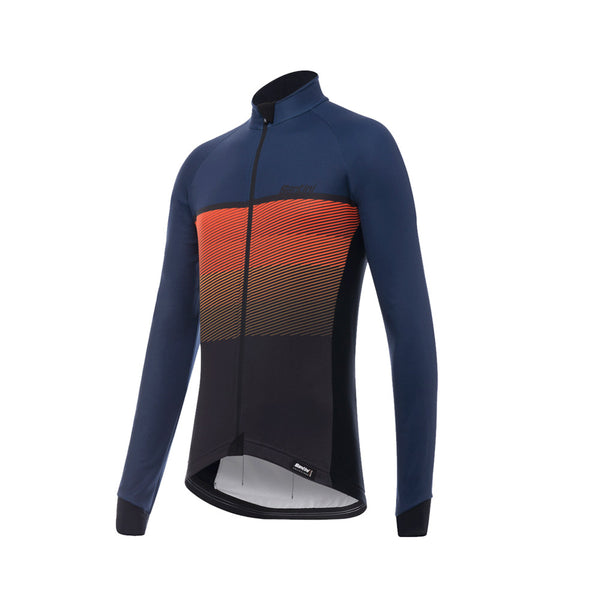 Santini Epic Winter Long Sleeve Jersey - Blue