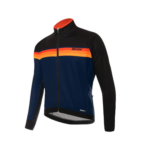 Santini H Way Windstopper Jacket - Black - Retro Road
