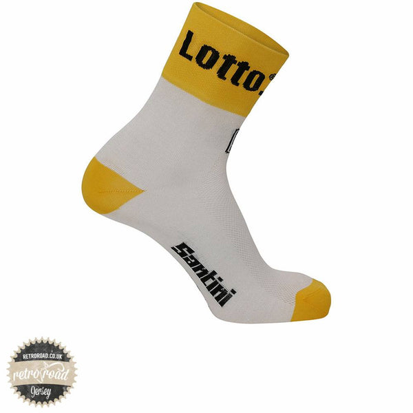 Santini Lotto Jumbo 16 Coolmax Socks - Retro Road