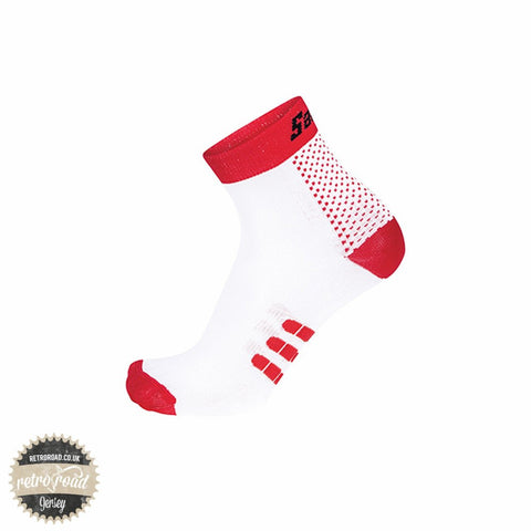 Santini One Low Profile Carbon Socks - Red - Retro Road