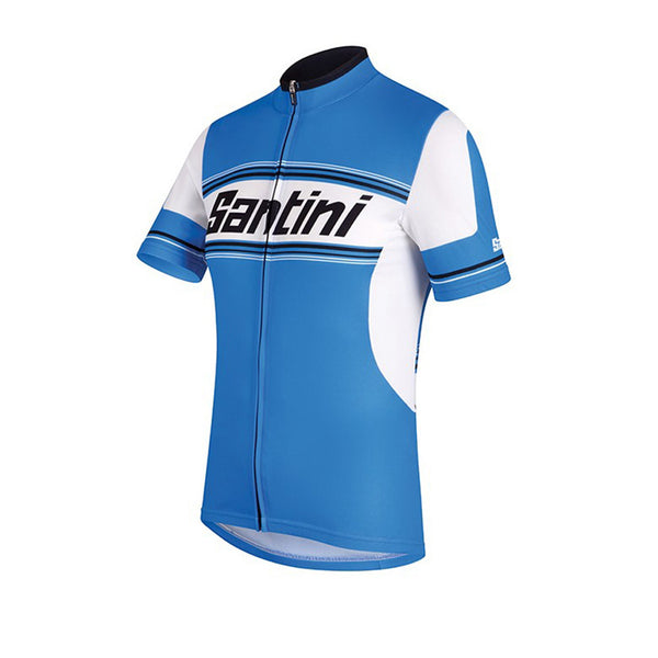 Santini Tau Short Sleeve Jersey - Retro Road