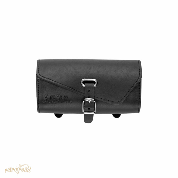 Sella Italia Gloriosa Full Leather Saddle Bag - Black