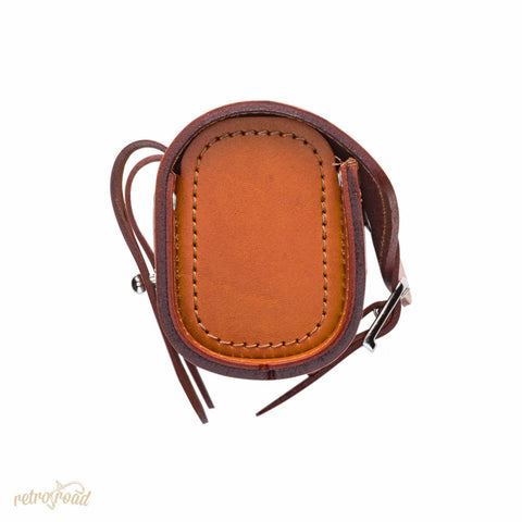 Sella Italia Gloriosa Full Leather Saddle Bag - Honey - Retro Road
