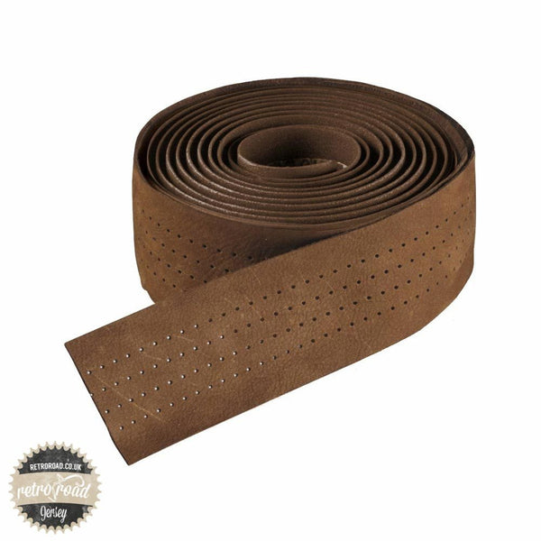 Selle Italia Smootape Classica Leather Bar Tape - Brown - Retro Road