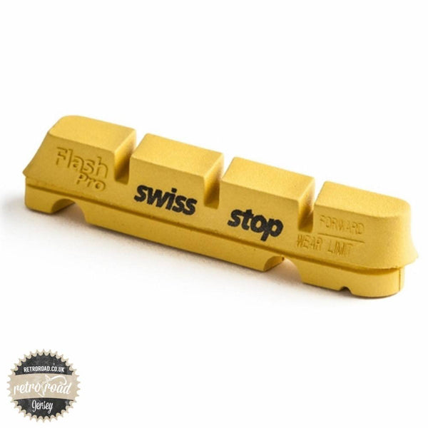 SwissStop Flash Pro Brake Pads - Yellow Pads (Carbon) - Retro Road