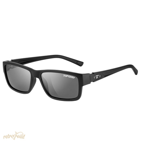 Tifosi Hagen Full Frame Smoke Lens Sunglasses - Gloss Black - Retro Road