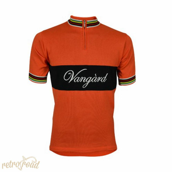 Vangard Retro Jersey Short Sleeve - Orange - Retro Road
