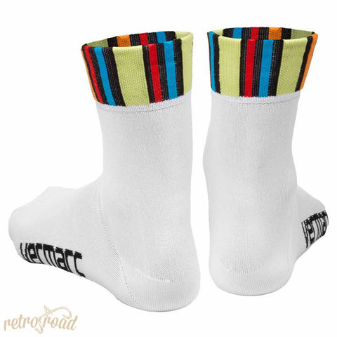 Vermarc Colora ClimaCool Socks - White - Retro Road  - 2