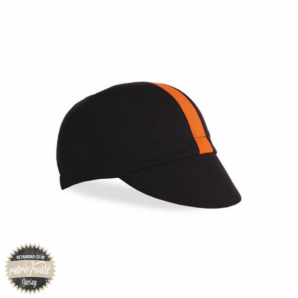 Walz Classic Wicking Cap - Black/Orange - Retro Road