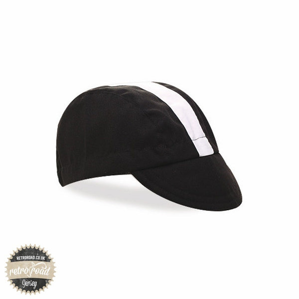 Walz Classic Cotton Cap - Black/White - Retro Road