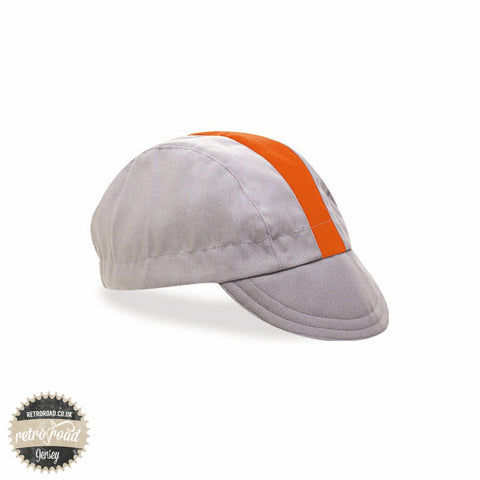 Walz Classic Cotton Cap - Gray/Orange - Retro Road