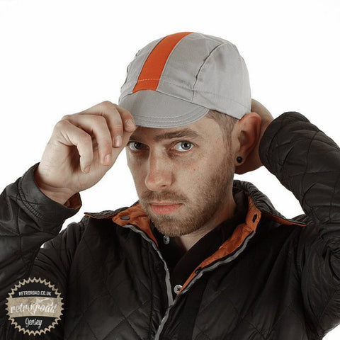 Walz Classic Cotton Cap - Gray/Orange - Retro Road  - 2