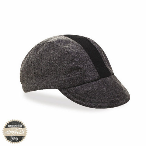 Walz Wool Race Stripe Cap - Gray/Black - Retro Road